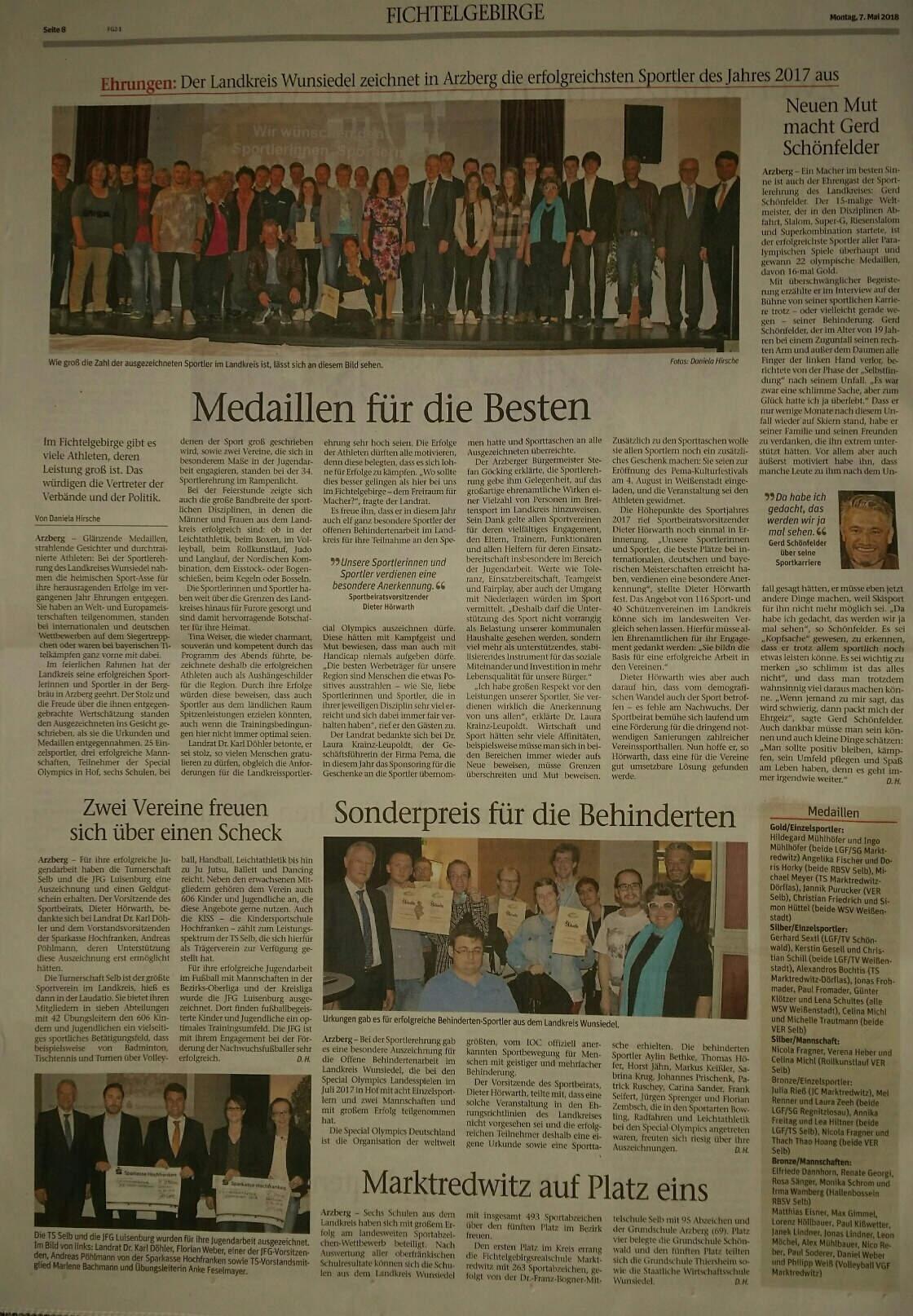 07_05_2018_Frankenpost_Sportlerehrung_Arzberg_
